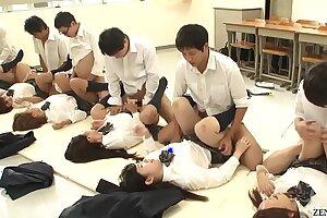 JAV synchronized student missionary hook-up led by teacher