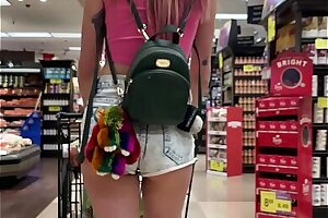 Small Honey Haley Reed Demonstrates Fun bags in Grocery Store then Smashes You (POV)