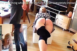 Clip 9Lil Paddled and caned - Dualscreen -11:52min, Sale:$10