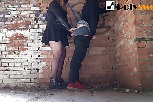 Plowed her BF in an abandoned building (Pegging)