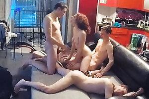 Best Friends, 3 way Fmm Orgy Action on Real Hidden Web cam