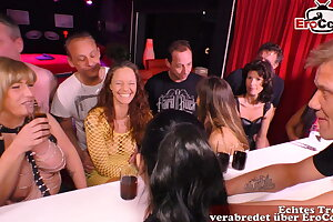 German amateur swinger party with young duo and groupsex