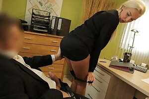 LOAN4K. Naughty blonde pounds for loan to buy a new Mercedes