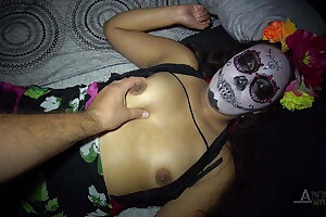 Halloween party concludes up hardcore for this nubile latina