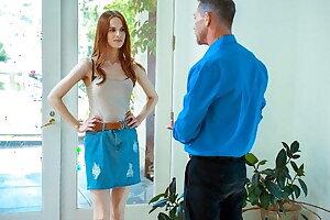 DADDY4K. Winsome redhead gets revenge on boyfriend by seducing his dad