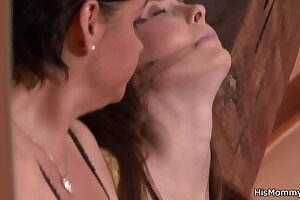 His horny sapphic mother is toying young twat