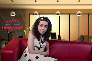 Inhale blowjob with teen Jasmin in an adult theater