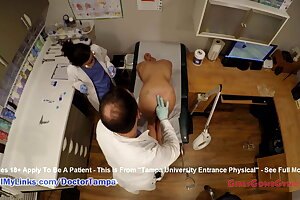 Sandra Chappelle's Schoolgirl Gyno Examination By Doctor From Tampa On Spy Cam